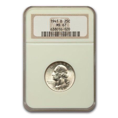 1941-D Washington Quarter MS-67 (Washington Quarter Ngc Mint)