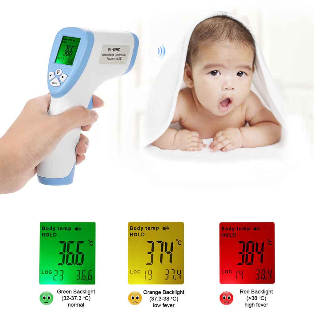 Clearance!Digital Baby Thermometer Non-contact IR Infrared Thermometer Baby Adult Forehead Body Surface Temperature Meter