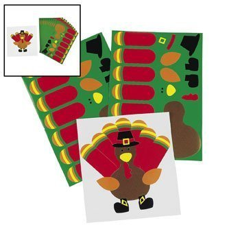 Make-A-Turkey Stickers - Kids' Stationery & Stickers