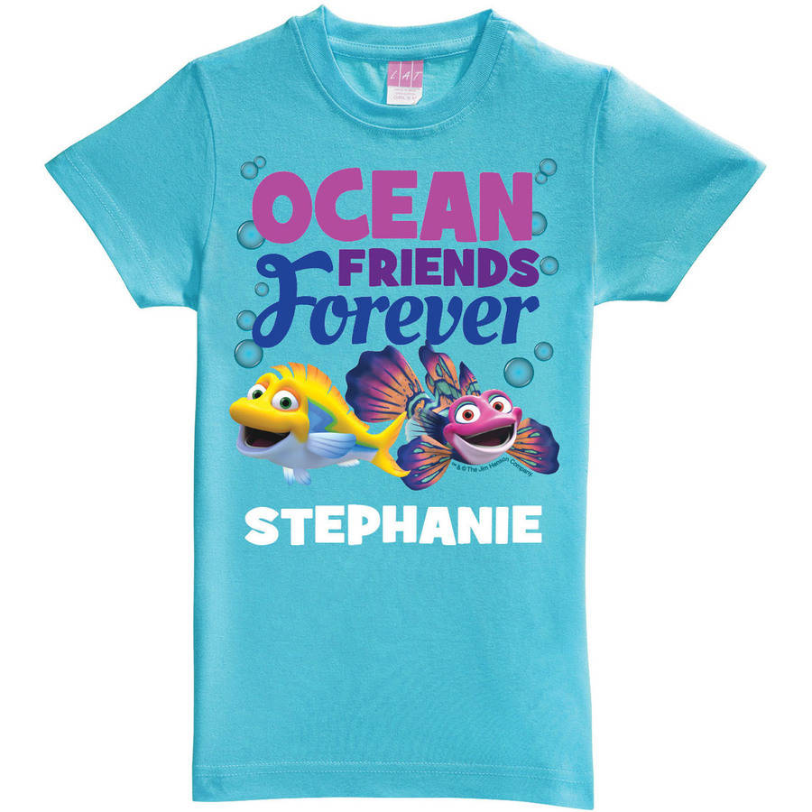 Personalized Splash and Bubbles Friends Forever Aqua Toddler Fitted Tee