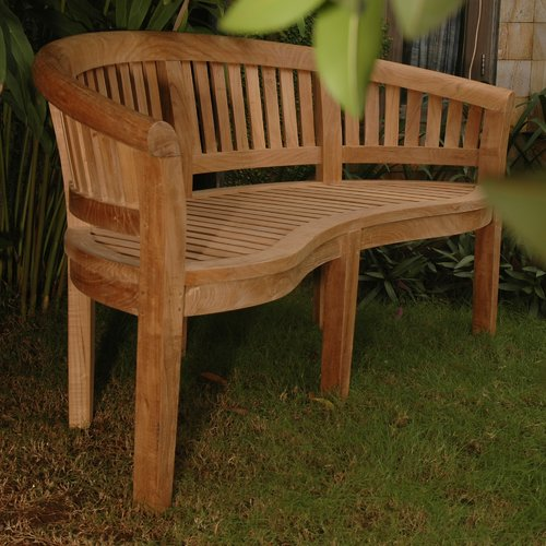 Anderson Teak Curve Teak Garden Bench by Anderson Collection