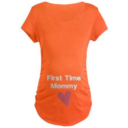 0fbdd54789c6b CafePress - CafePress - Cute First Time Mommy Maternity T-Shirt - Maternity  Dark T-Shirt - Walmart.com