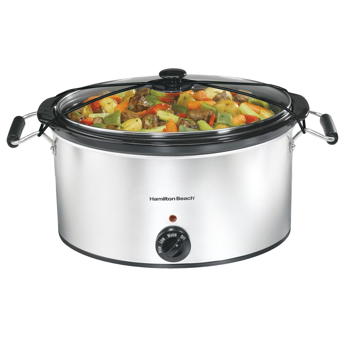 Hamilton Beach 7 Quart Classic Counter top Oval Slow Cooker with Lid Latch