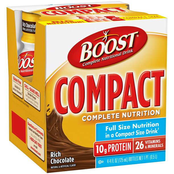 Boost Compact Complete Nutritional Drink, Rich Chocolate ...