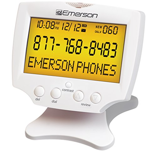 Emerson EM60 Large Display Talking Caller ID Box With 60 ...