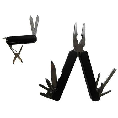 2 Piece Multi-Tool Plier and Pocket Knife Set - TP-01073-86 thumbnail