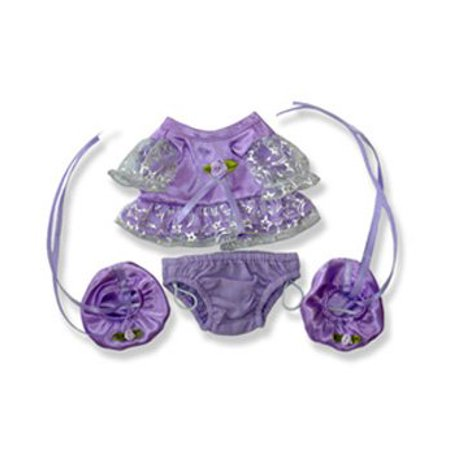 Purple Party Dress Outfit Clothing Fits Most 8