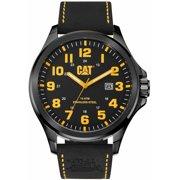 Men's CAT Caterpillar Operator Black Leather Strap Watch PU16134117
