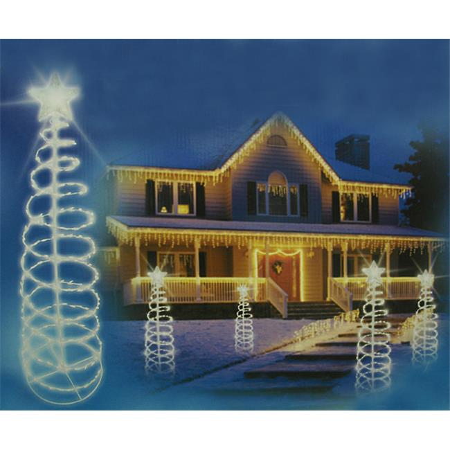 NorthLight 6 ft. Clear Lighted Outdoor Spiral Christmas T...