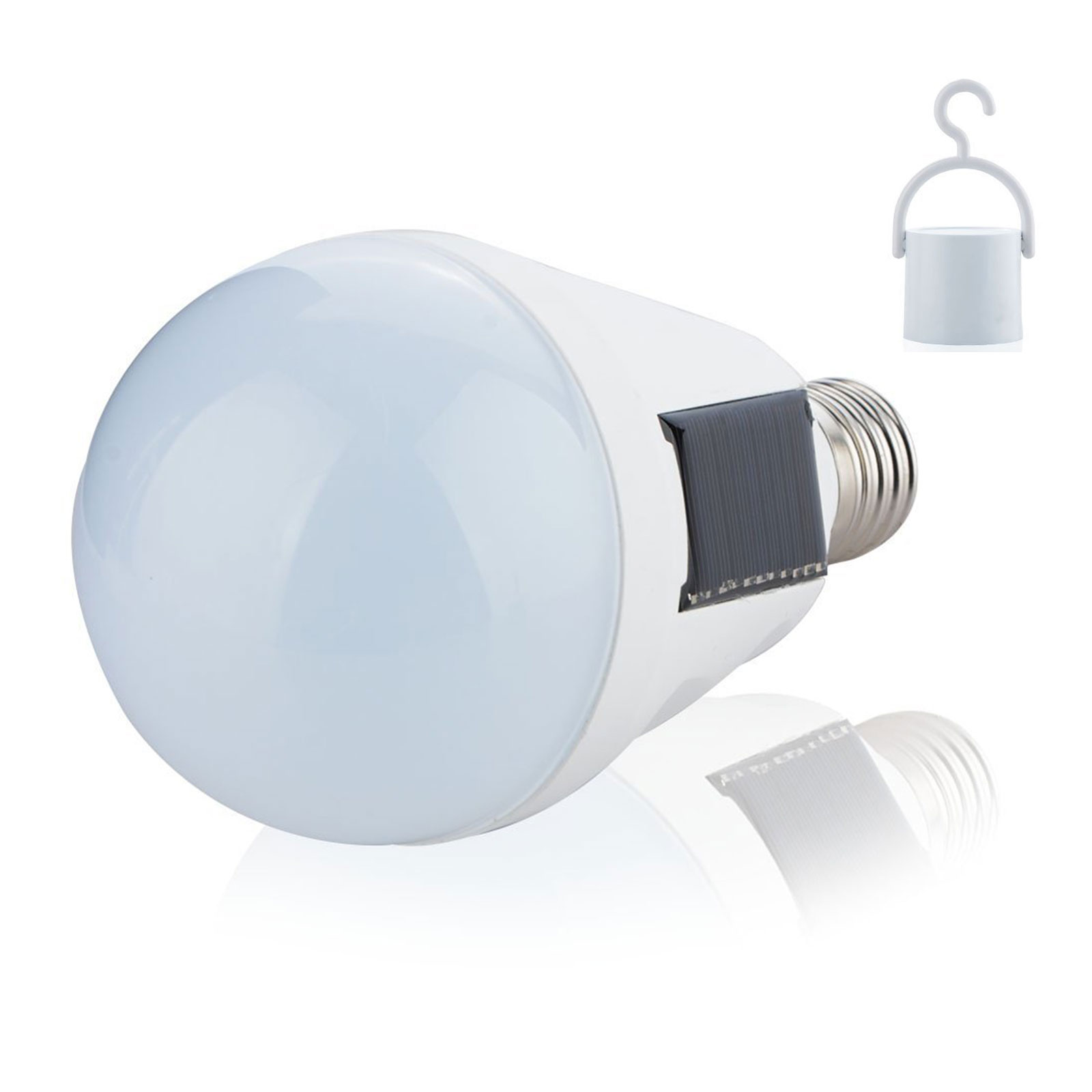 Click here to buy Solar Power Light Bulbs, LED Emergency Lamp for Outdoor, Camping, Hurricanes, Outages Waterproof IP65, White.