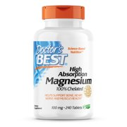 Doctor's Best High Absorption Magnesium Tablets, 100 Mg, 240 Ct