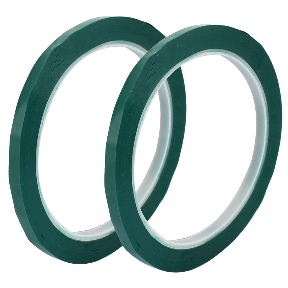 2 Pcs 5mm Single Sided Strong Self Adhesive Mylar Tape 50M Length Logo Green