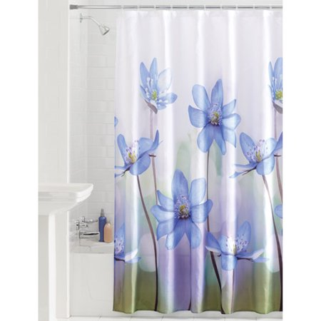 Mainstays Photoreal Flower Fabric Shower Curtain