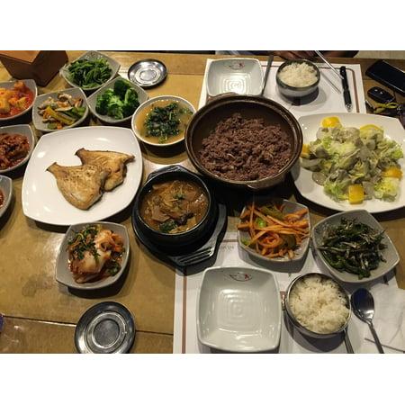 LAMINATED POSTER Asian Korean Dinner Meal Fish Poster Print 24 x 36