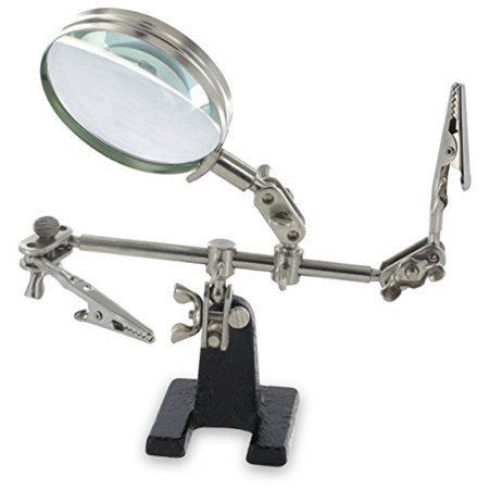 Ram-Pro Helping Hands Magnifier Glass Stand with Alligator Clips – 4x Magnifying Lens, Perfect for Soldering, Crafting & Inspecting Micro (Best Soldering Helping Hands)