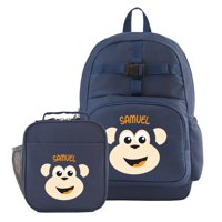 Personalized Big Face Navy Backpack Collection