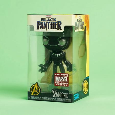 - Funko Wobbler: Marvel Collector Corp Exclusive - Black Panther Vinyl Bobble Head