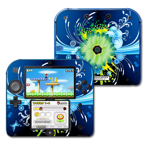 Mightyskins Protective Vinyl Skin Decal Cover for Nintendo 2DS wrap sticker skins Flower Explosion
