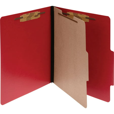 Executive Folder - ACCO Presstex Classification Folders, Letter, 4-Section, Executive Red, 10-Pack