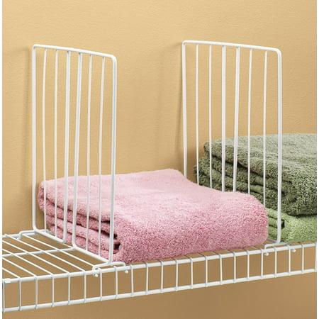 Miles Kimball Shelf Divider for Wire Shelves Set of (Extra Shelf File Dividers)