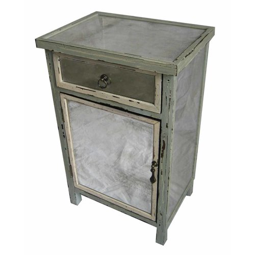 Cheungs Dirty Mirror 1 Drawer Accent Cabinet