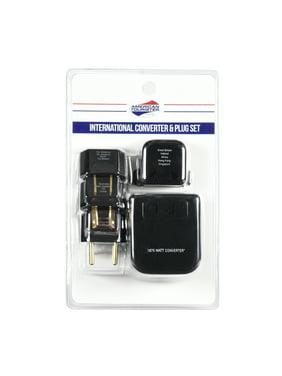 American Tourister Travel Converter and Plug Set - Worldwide