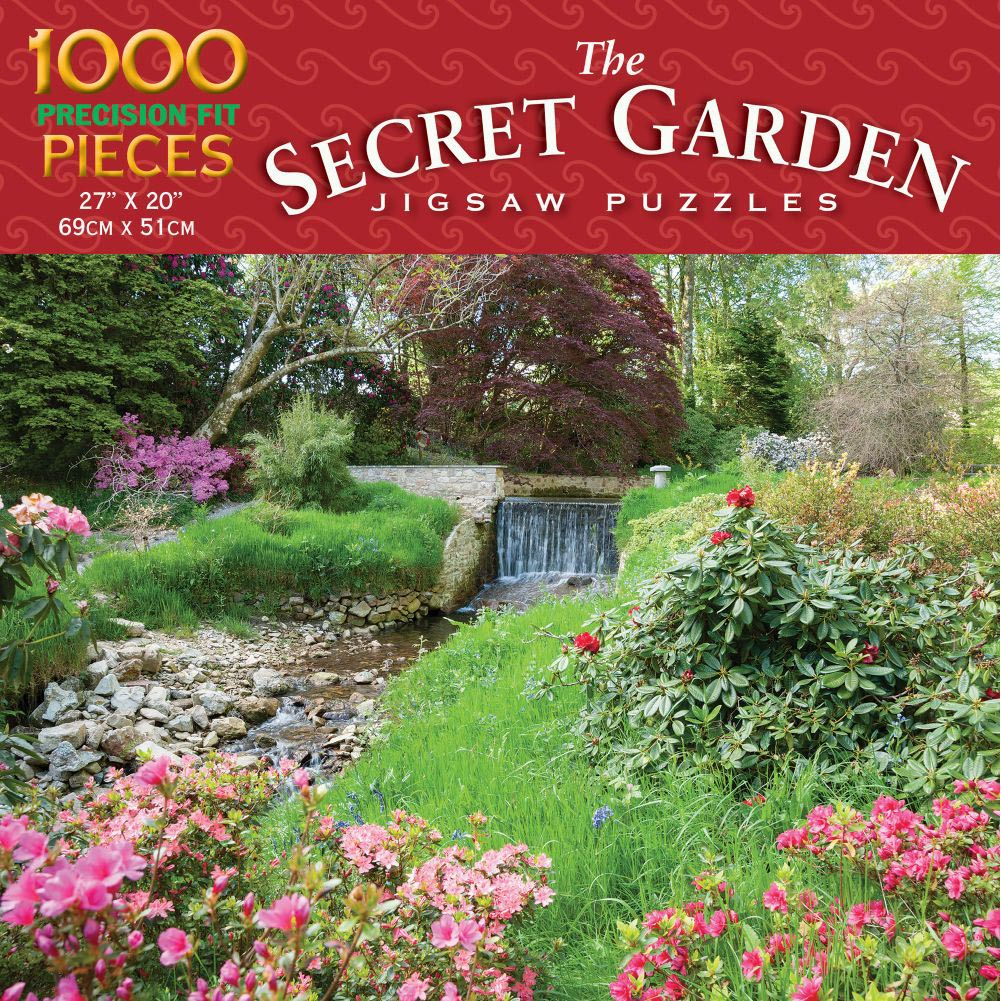 Waterfall Adventure 1000 Piece Puzzle,  Gardens by Luv-It Puzzles
