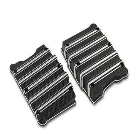 Arlen Ness 10-Gauge Billet Rocker Box Top Cover Set Black (18-253) ()