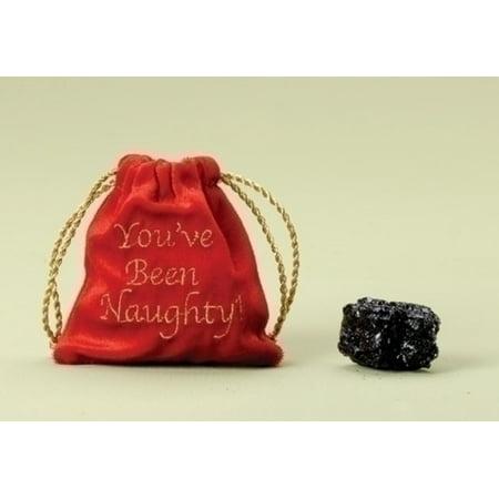 You\'ve Been Naughty Christmas Gift Bag with Lump of Coal - Walmart.com