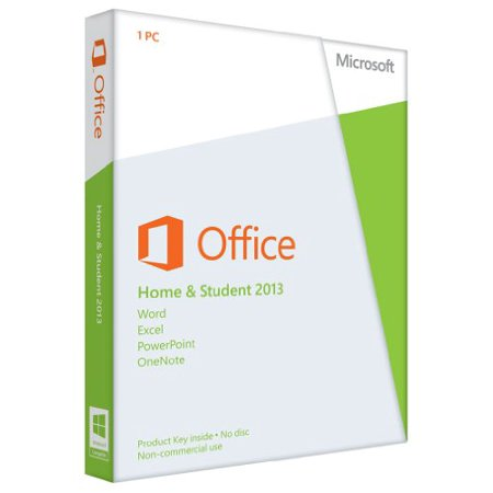 Microsoft Office Home and Student 2013 - Box pack - 1 PC - non-commercial - 32/64-bit, medialess - Win - English - North America ()