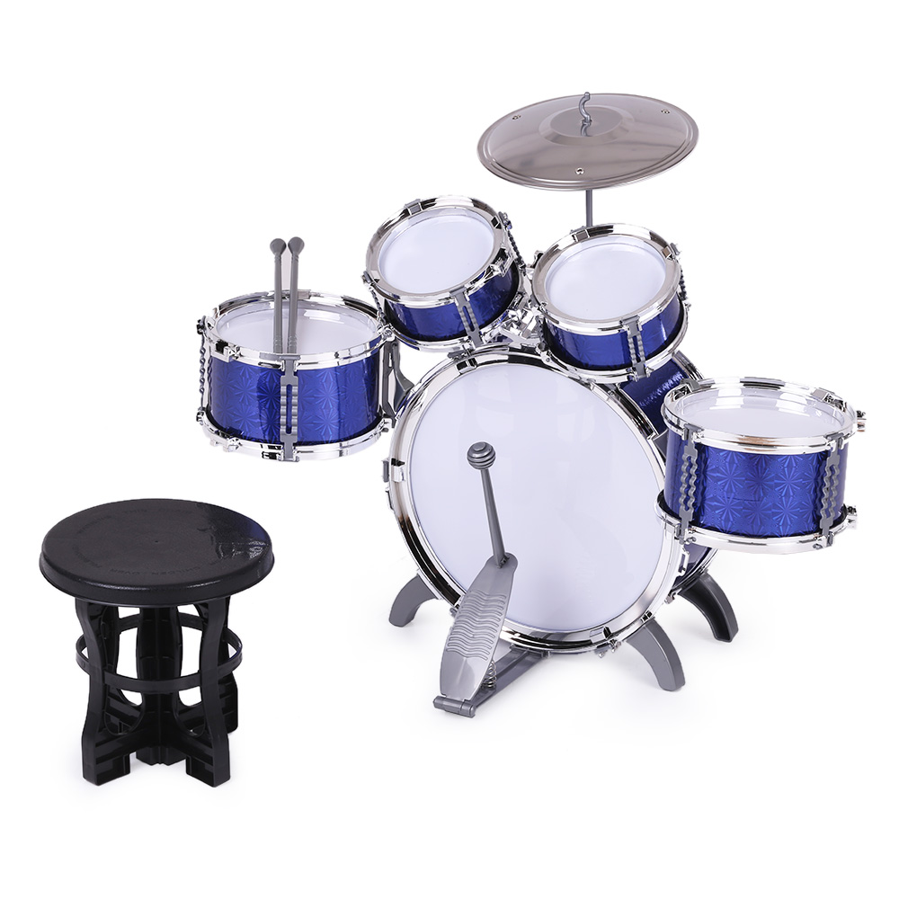 Children Kids Drum Set Musical Instrument Toy 5 Drums With Small
