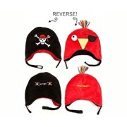 LCKDWSPP Pirate/Parrot Reversible Kid's Winter Hat Small