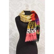 Scarf-With God All Things Are Possible-Self-Fringe Paisley (20 x 71)