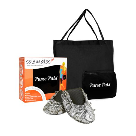 Solemates Purse Pals Foldable Flats with expandable Tote Bag