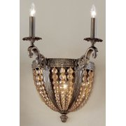 Merlot Wall Sconce in Aged Bronze Finish