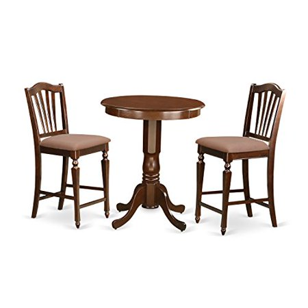 mah c 3 piece pub table set pub table and 2 kitchen dining chairs