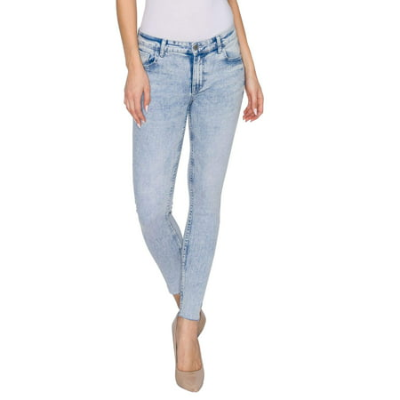 RING OF FIRE Women's Monica Mid Rise Ankle Skinny Fit Jeans