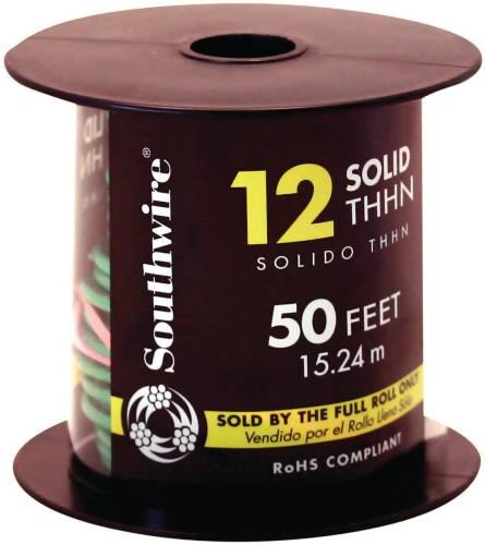 SIMPULL THHN�, 12 GAUGE THHN SOLID WIRE, GREEN, 50' PER ROLL per 2 Roll