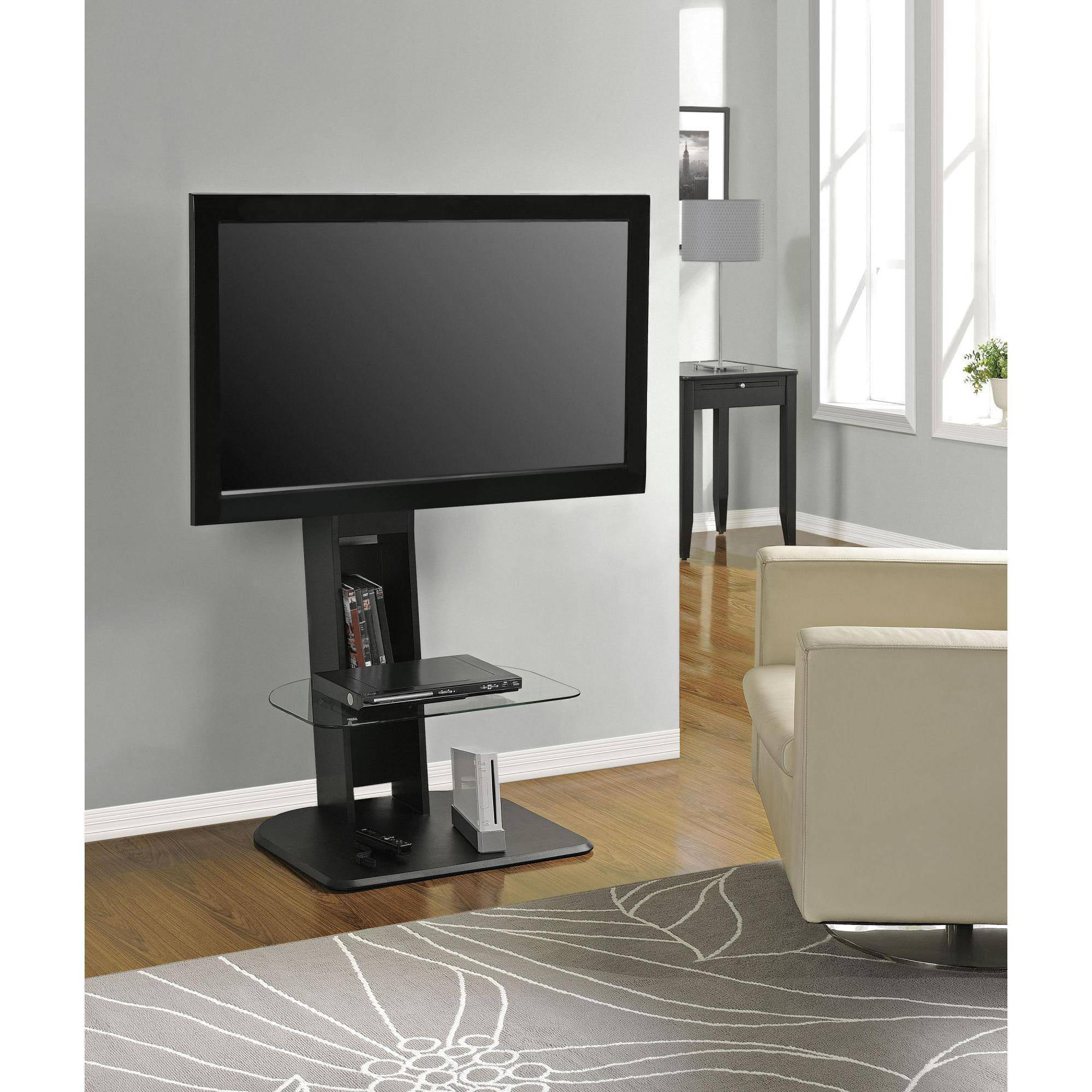 atlantic furniture tabletop tv stand black  walmartcom -
