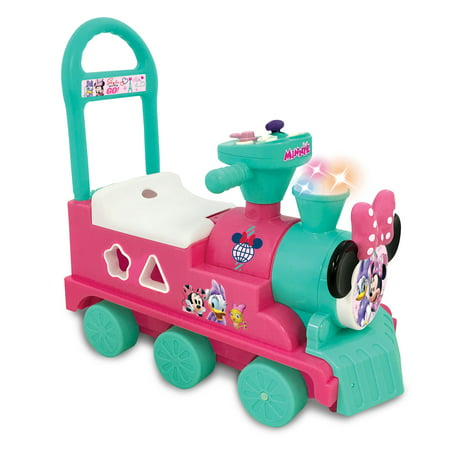 Kiddieland Minnie Mouse Play n Sort Activity Interactive Ride On Train w/ Blocks