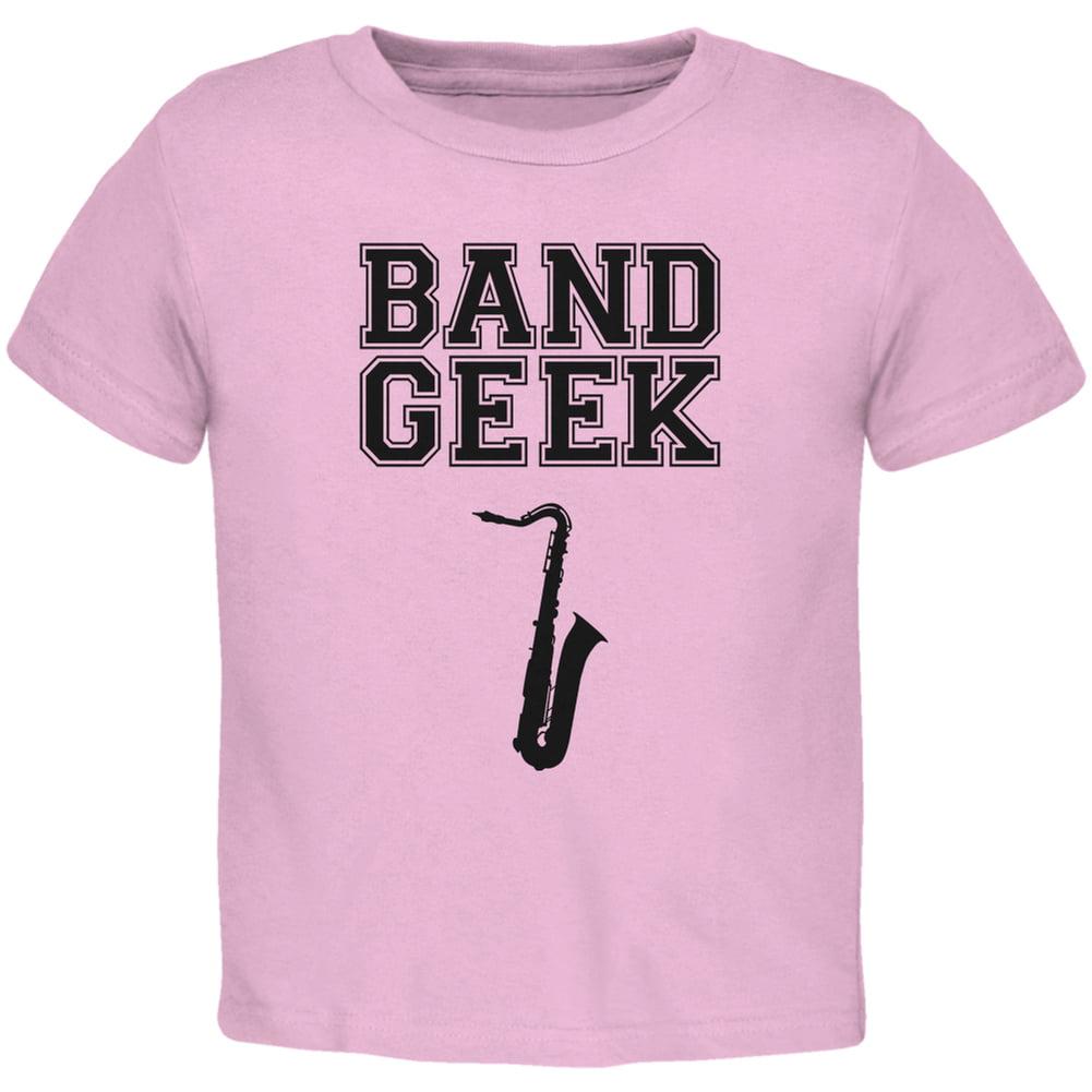 Band Geek Sax Light Pink Toddler T-Shirt