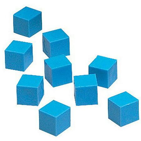 1 Base Unit (School Smart Base Ten Components Plastic Units, 1 x 1 x 1 Centimeters, Blue, Pack of 100 )