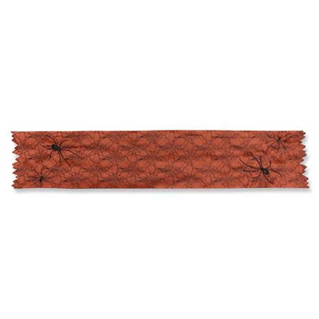 Spider Orange 72 in. Table Runner