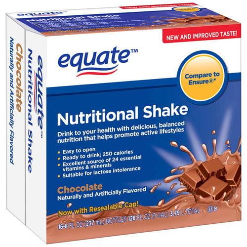 Equate Chocolate Nutritional Shake, 8 fl oz, 16 count
