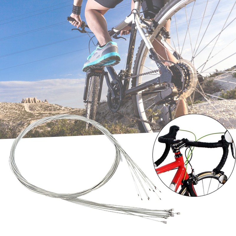 10pcs Stainless Steel Bike Derailleur Cable Road Shift Cable Inner Shift Cable For Bicycle bike cable wire inner shift cables