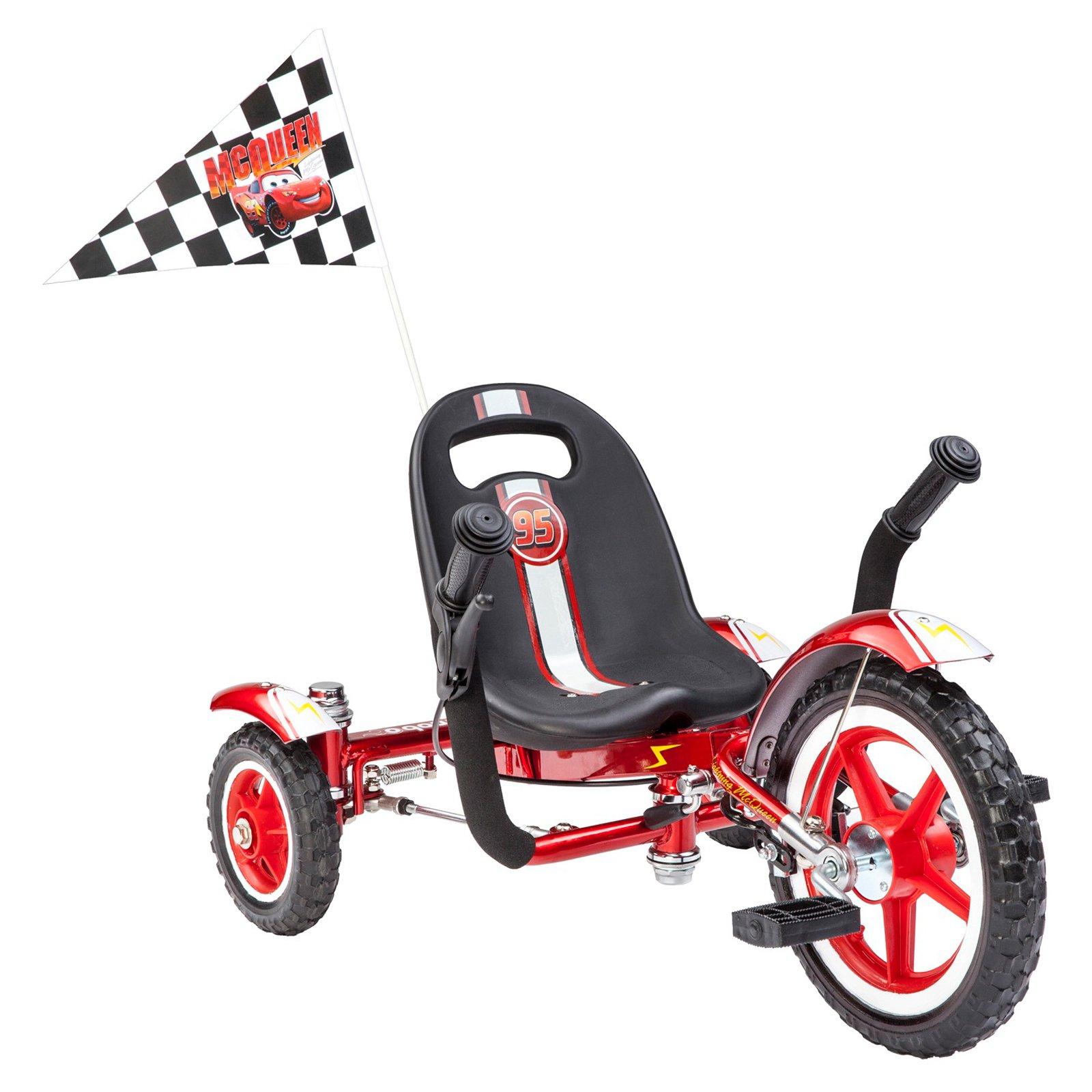 Mobo Tot Disney,Pixar Cars Classic Three-Wheeled Cruiser, Red