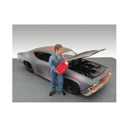 Mechanic Dan Figure For 1:24 Diecast Model Car by American - Model Car Diorama