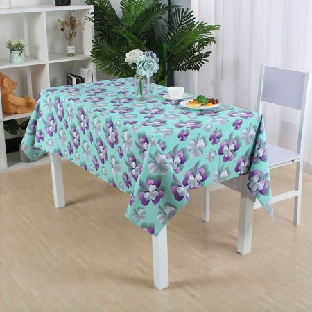 """Tablecloth PVC Vinyl Table Cover Oil Water Resistant Table Cloth 54"""" x 71"""", #3 - image 5 of 7"""