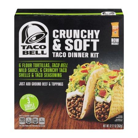 Taco Bell Dinner Kit Crunchy & Soft, 6 servings, 12.77 Oz