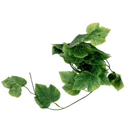 Home Wedding Party Festival Artificial Leaf Ivy Green 2.2 Meter Length ()
